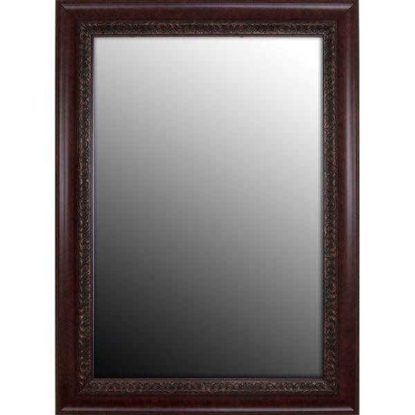 Birds Eye Cherry Gold Accents Mirror (31 x 67)