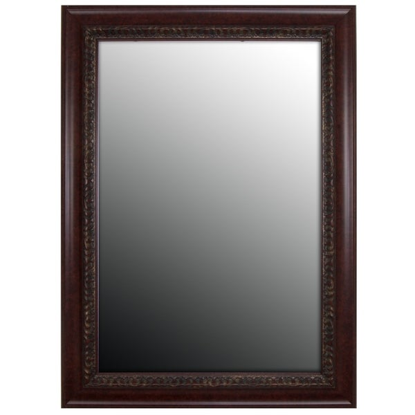 """Hitchcock Butterfield Williamsburg Large Cherry Traditional Mirror - Red - 31""""w x 67""""h"""