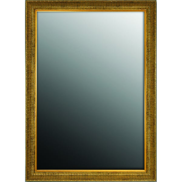 Waterfall Gold Over Antiqued Silver Mirror (26 x 36)