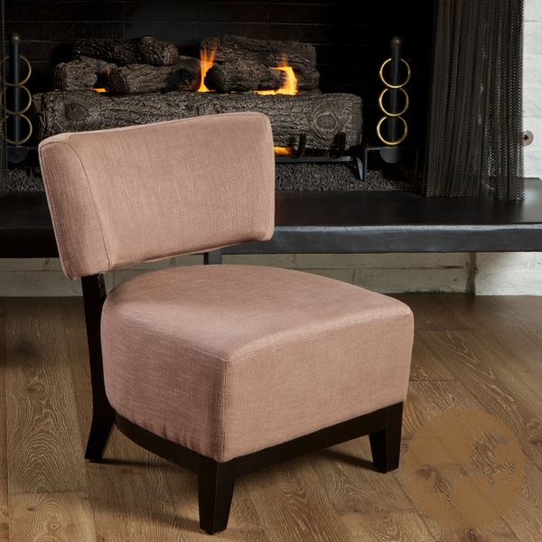 Davide Bronze Brown Fabric Accent Chair by Christopher Knight Home