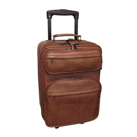 Amerileather Brown Leather 22-inch Expandable Pullman