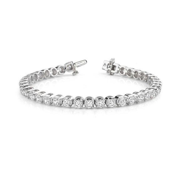 14k White Gold 10ct TDW Round Diamond Tennis Bracelet (G-H, VS1-VS2)