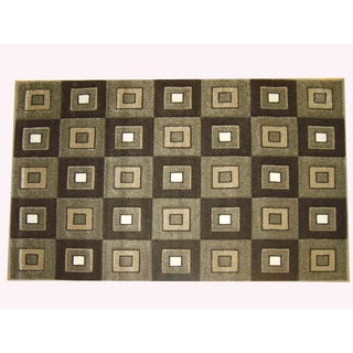 Modern Deco Fume Block Style Rug (3'9 x 5'1)