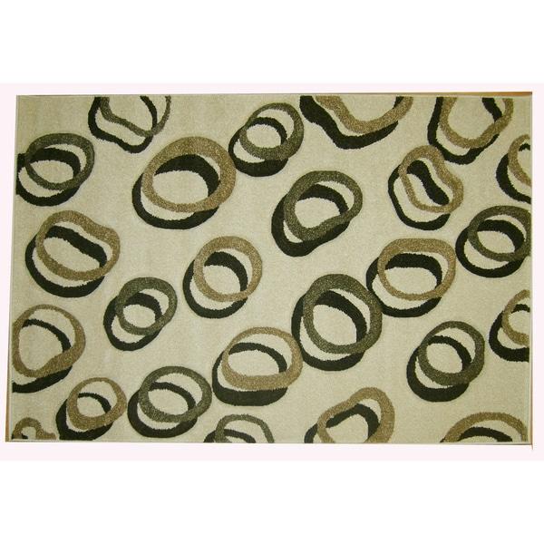Modern Deco Ivory Contempo Rug (7'9 x 10'5)