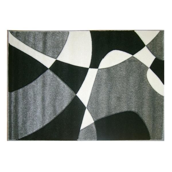 Modern Deco Grey Universe Rug (3'9 x 5'1)