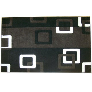 Modern Deco Black Geometric Rug (7'9 x 10'5)