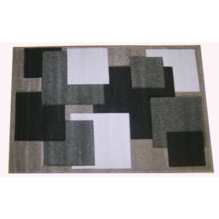 Modern Deco Champagne Boxes Rug (7'9 x 10'5)