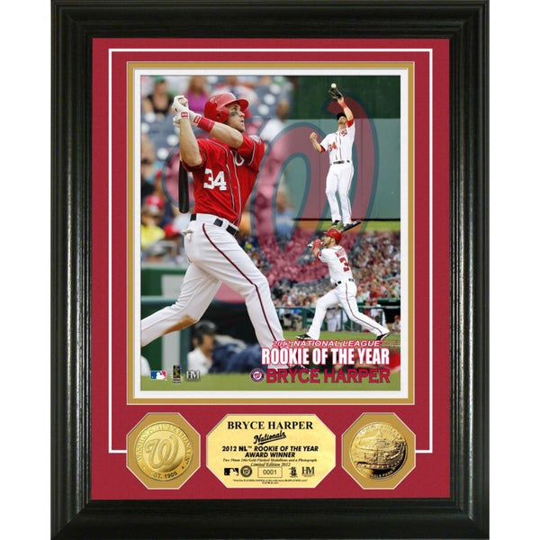 '12 N.L. 'R.O.Y.' Bryce Harper Gold Coin Photomint