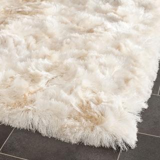Safavieh Handmade Silken Glam Paris Ivory Polyester Shag Rug (2' x 3')