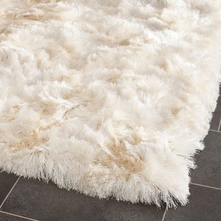 Safavieh Handmade Silken Glam Paris Shag Ivory Runner (2'3 x 10')