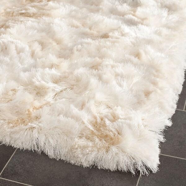 """Safavieh Handmade Silken Glam Paris Shag Ivory Runner Rug - 2'3"""" x 10' Runner"""