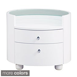 Emily/ Evelyn Glass Top Nightstand