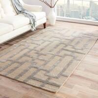 "Alden Handmade Trellis Gray/ Taupe Area Rug (9'6"" X 13'6"") - 9'6 x 13'6"