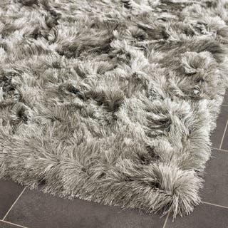 Safavieh Handmade Silken Glam Paris Shag Silver Rug (2'6 x 4')|https://ak1.ostkcdn.com/images/products/7554803/7554803/Silken-Silver-Shag-Rug-26-x-4-P14986821.jpeg?impolicy=medium