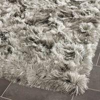 Safavieh Handmade Silken Glam Paris Shag Silver Rug - 2'6 x 4'