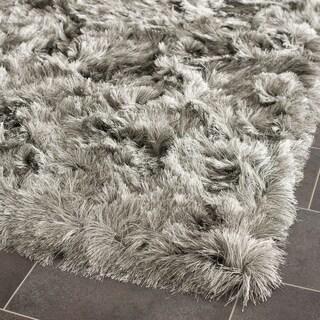 Safavieh Handmade Silken Glam Paris Shag Silver Rug (5' Square)