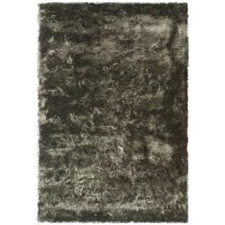 Safavieh Paris Shag Danara Glamour Solid Polyester Rug (6 x 9 - Titanium)