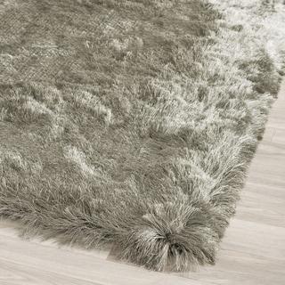 Safavieh Handmade Silken Glam Paris Shag Titanium Polyester Rug (7' Square)
