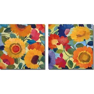 Kim Parker 'Flower Market I and II' 2-piece Canvas Art Set