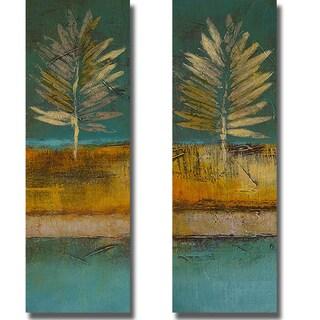 Lanie Loreth 'Island Leaf I and II' 2-piece Canvas Art Set