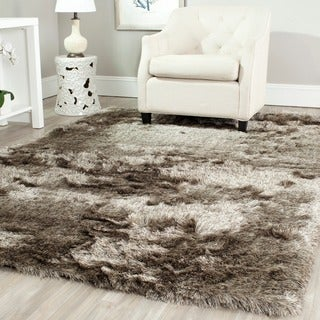 Safavieh Handmade Silken Glam Paris Shag Sable Brown Rug (5' Square)
