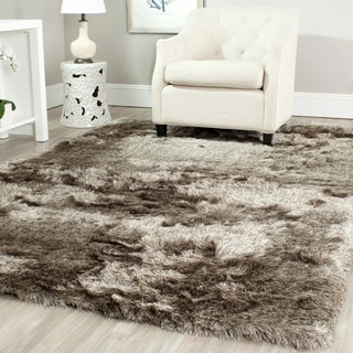 Safavieh Handmade Silken Glam Paris Shag Sable Brown Polyester Area Rug (6' x 9')