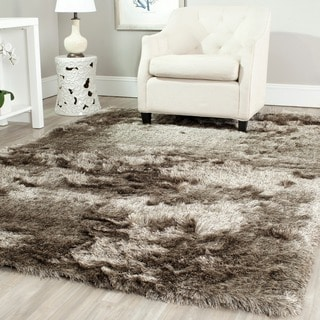 Safavieh Handmade Silken Glam Paris Shag Sable Brown Rug (7' x 7')