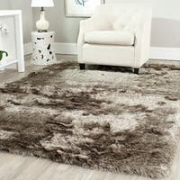 Safavieh Handmade Silken Glam Paris Shag Sable Brown Rug (7' x 7') - 7' x 7'