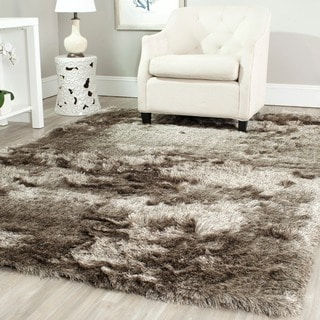 Safavieh Handmade Silken Glam Paris Shag Sable Brown Polyester Area Rug (8'6 x 12')