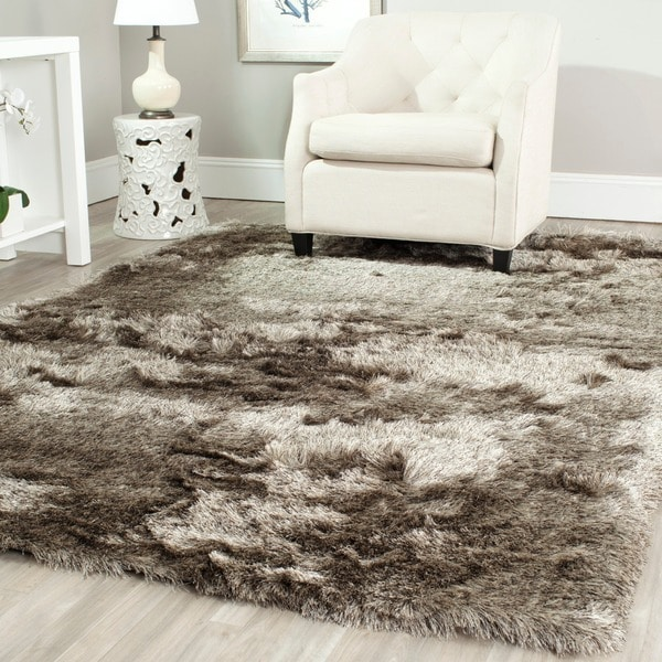 Safavieh Handmade Silken Glam Paris Shag Sable Brown Rug (8'6 x 12')