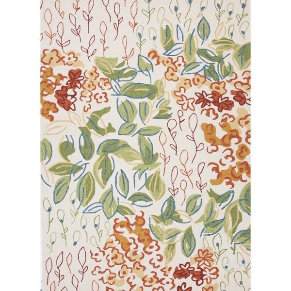 Floral Multi Color Indoor/ Outdoor Rug (7'6 x 9'6)