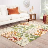 "Mariager Indoor/ Outdoor Floral Multicolor/ White Area Rug (5' X 7'6"") - 5' x 7'6"