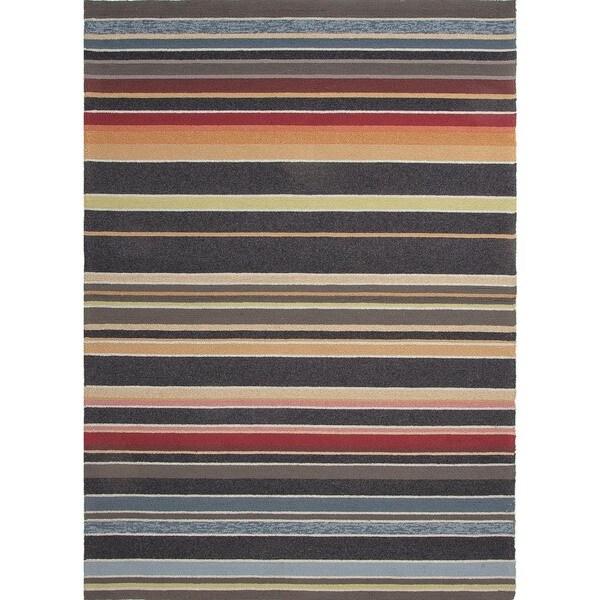 Stripe Blue Indoor/Outdoor Area Rug