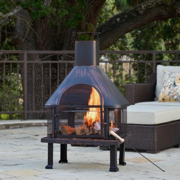 Corvus Vintage Brushed Bronze Outdoor Fire Pit