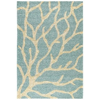 Coastal Blue Indoor/ Outdoor Rug (7'6 x 9'6)