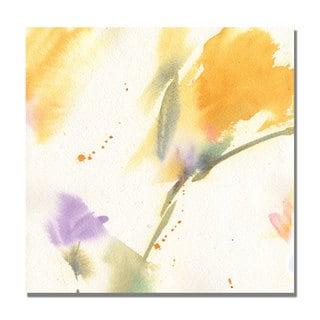 Shelia Golden 'Flowers Abstract' Canvas Art