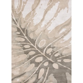 Transitional Coastal Gray/ Black Wool Tufted Rug (5' x 8')