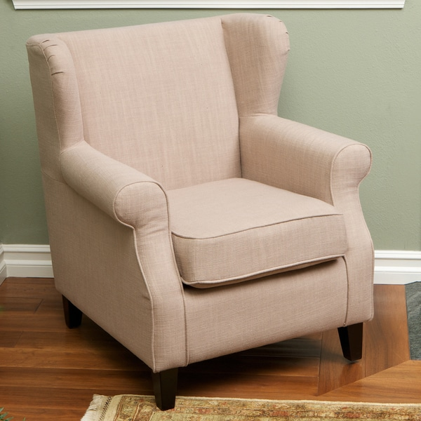 Eleanor Tan Fabric Club Chair by Christopher Knight Home