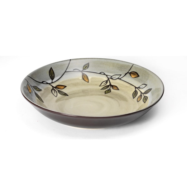 Pfaltzgraff Everyday Stoneware Rustic Leaves Pasta Bowl
