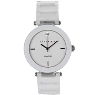 Anne Klein Women's Stainless Steel and Ceramic Watch|https://ak1.ostkcdn.com/images/products/7555063/P14987024.jpeg?impolicy=medium