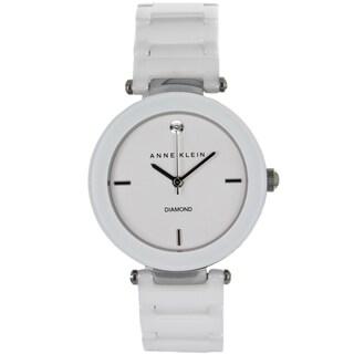 Anne Klein Women's Stainless Steel and Ceramic Watch