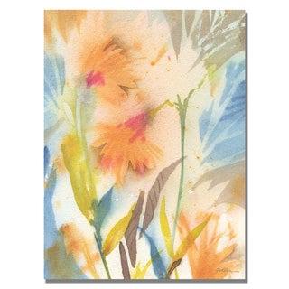 Shelia Golden 'Tropical Orange Flowers' Canvas Art