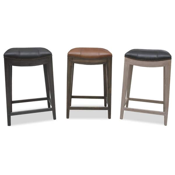 Astonishing Shop Sonoma Italian Leather And Alder Wood Barstool Free Camellatalisay Diy Chair Ideas Camellatalisaycom