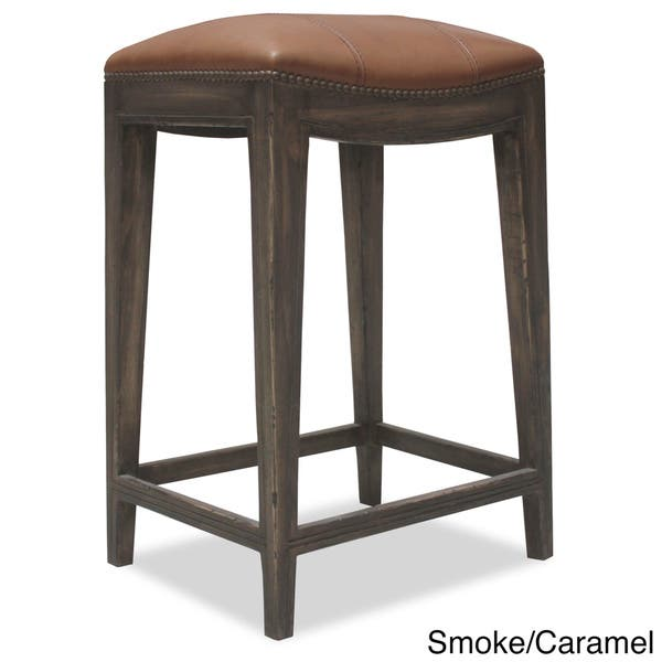 Brilliant Shop Sonoma Italian Leather And Alder Wood Barstool Free Camellatalisay Diy Chair Ideas Camellatalisaycom
