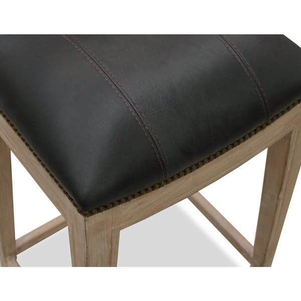 Stupendous Shop Sonoma Italian Leather And Alder Wood Barstool Free Camellatalisay Diy Chair Ideas Camellatalisaycom