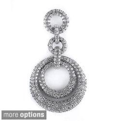 Sterling Silver Cubic Zirconia Fancy Gala Pendant