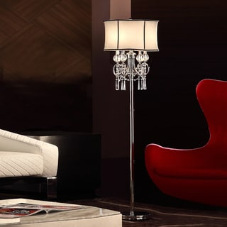 TRIBECCA HOME Hyland 63.5-inch Crystal Floor Lamp