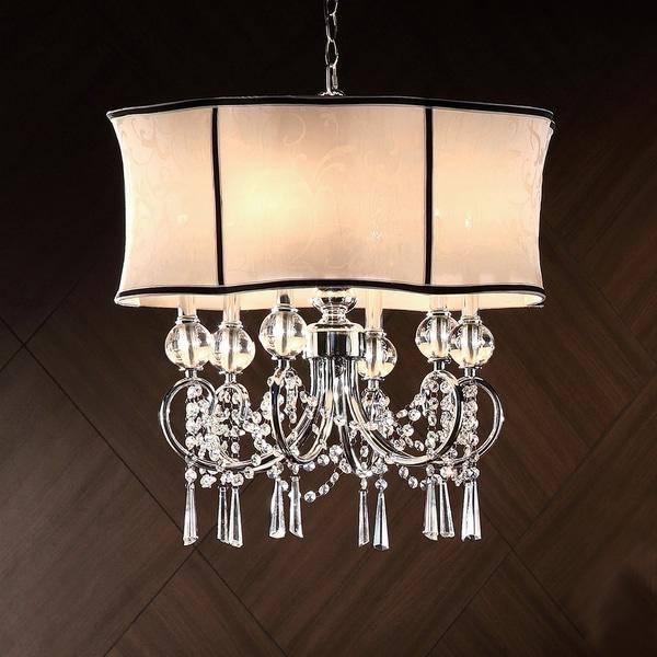 Hyland 25-inch Crystal Ceiling Lamp