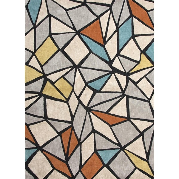 Modern Geometric Tufted Rug (3'6 x 5'6)