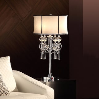 TRIBECCA HOME Hyland 32.50 inches Crystal Table Lamp